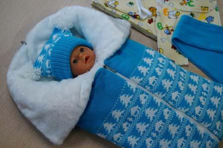 zimnii-1 Как сшить зимний утепленный конверт для новорожденного