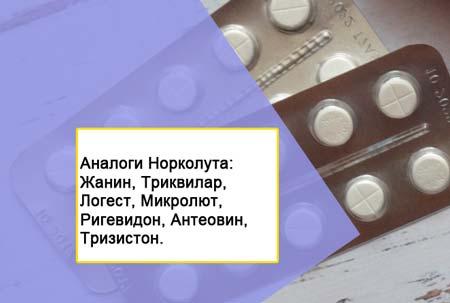 Гормональные таблетки норколут 3