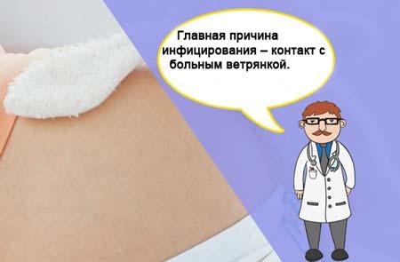 Ветрянка у беременных в 123 триместре симптомы последствия и лечение