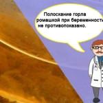 Полоскание горла ромашкой при беременности